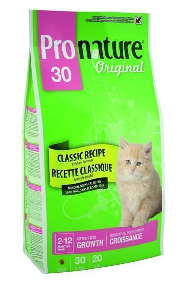 Сухие корма для котят pronature