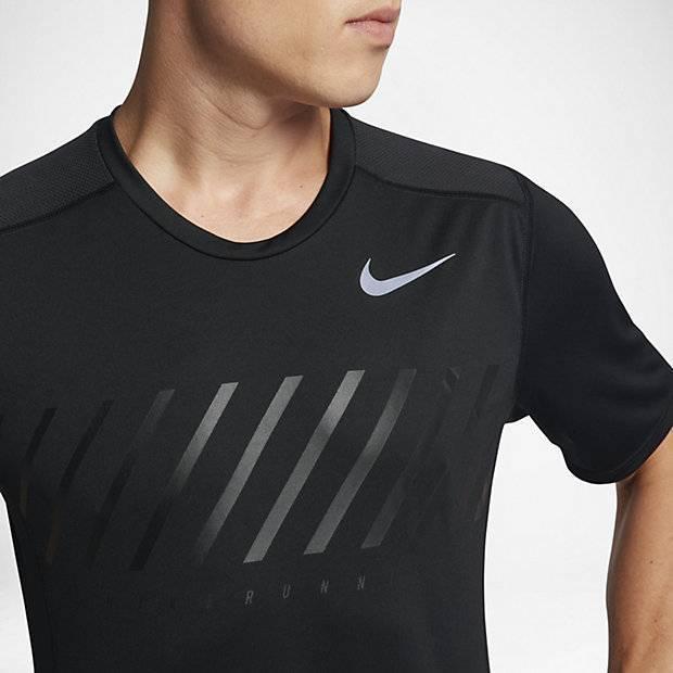 0a73fa06 Мужская беговая футболка Nike Dry Miler (Черный) (856880-010) купить ...