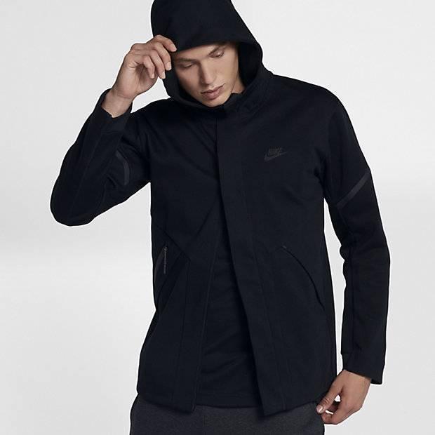 7044af53 Мужская куртка Nike Sportswear Tech Fleece Repel Windrunner (Черный ...