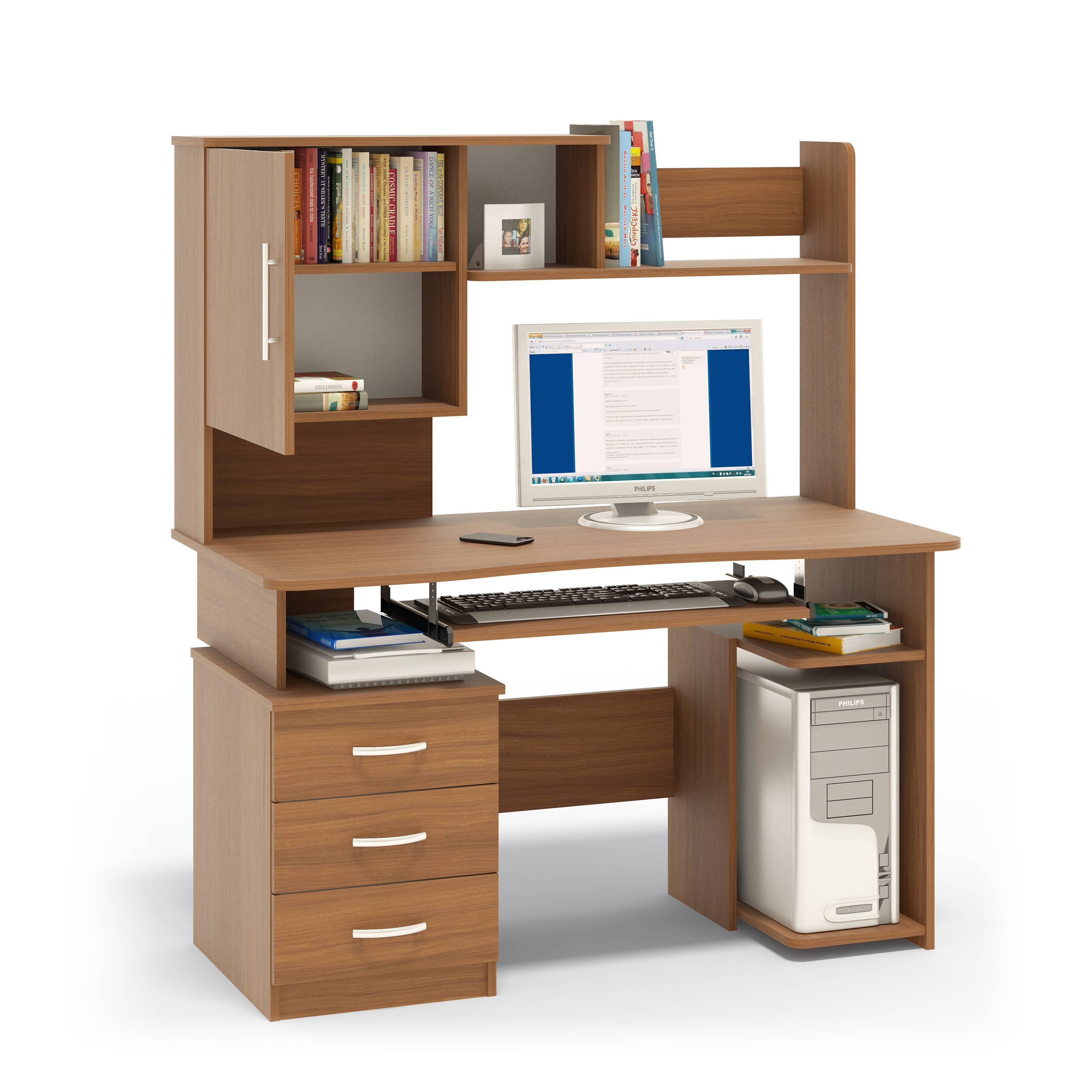 Компьютерный стол кст-08.1 с надстройкой кн-34 - купить по ц.
