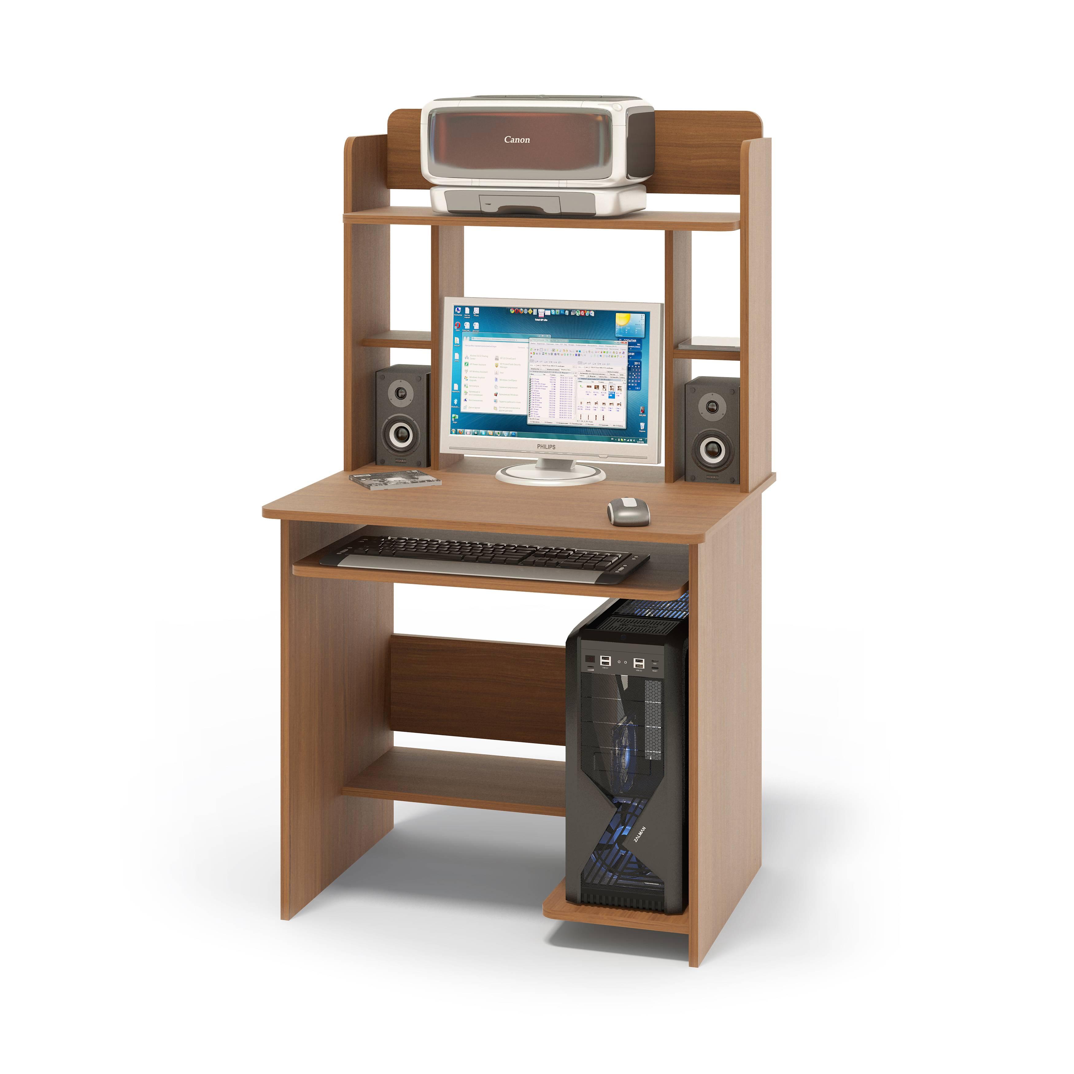 Компьютерный стол сокол кст-01.1+кн-12 испанский орех от сок.